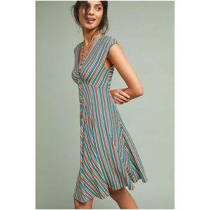 Anthropologie Farrah Striped Dress XL